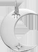 Přívěsek Lune stříbrný 2 cm